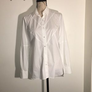 White Cotton Shirt by Rachel Roy. Size S